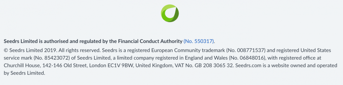 Seedrs Limited is authorised and regulated by the Financial Conduct Authority (No. 550317).