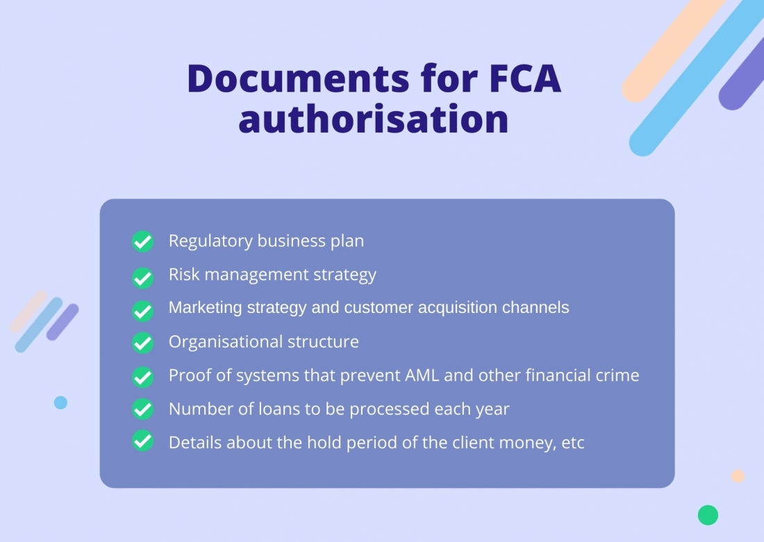 Documents for FCA authorisation