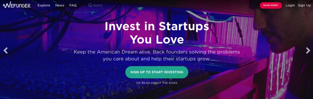 Wefunder - Invest in Startups