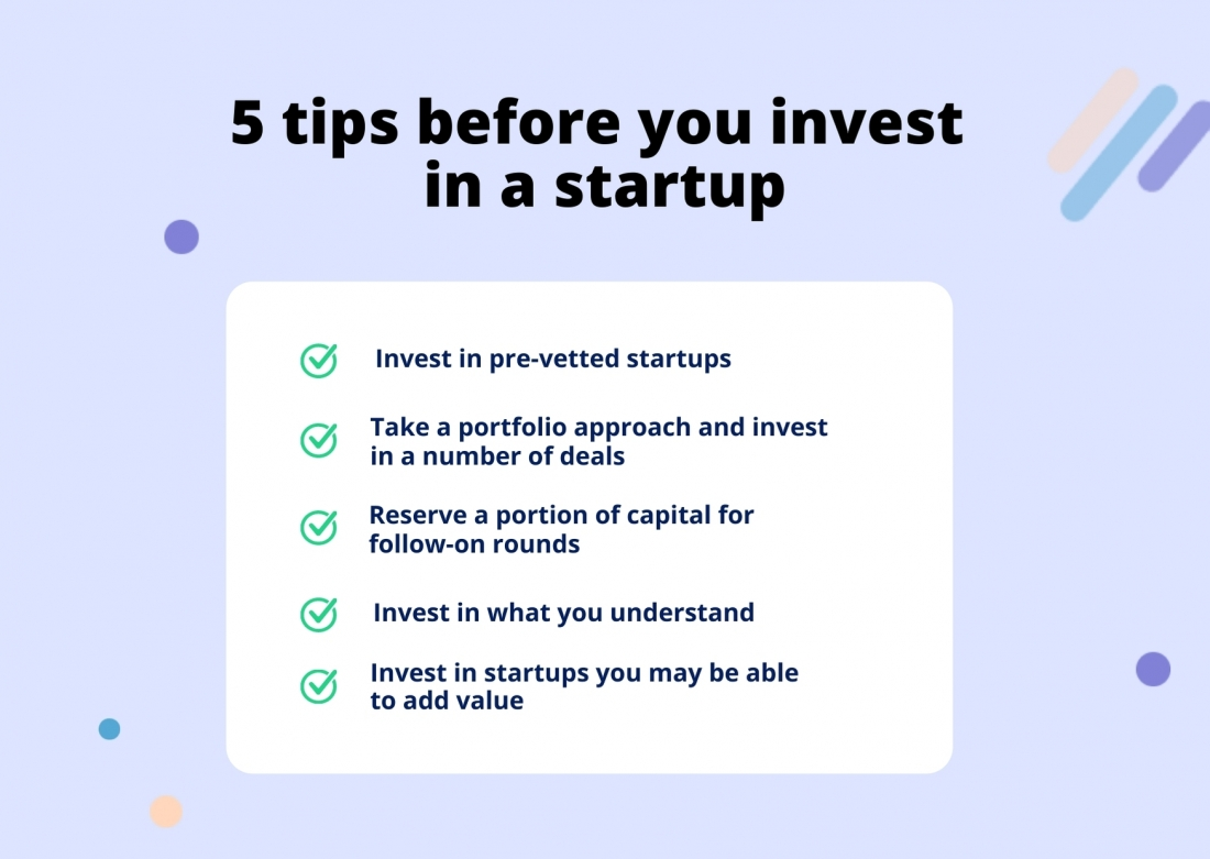 5 tips before you invest in a startup