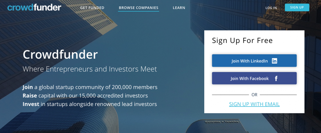 Crowdfunder Where Entrepreneurs and Investors Meet