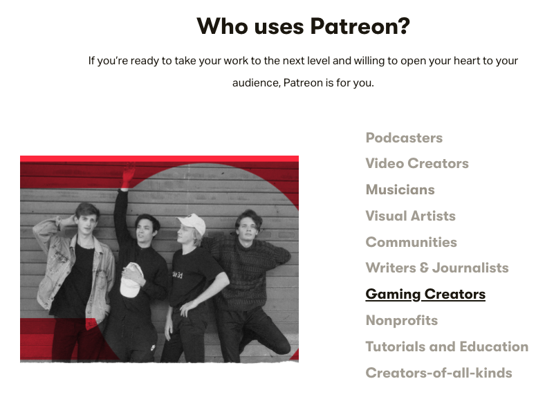 Who uses Patreon?