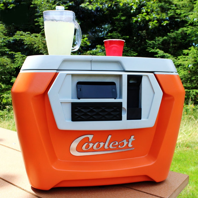 Coolest Cooler — this is a device that fits a refrigerator, cutting board and blender.