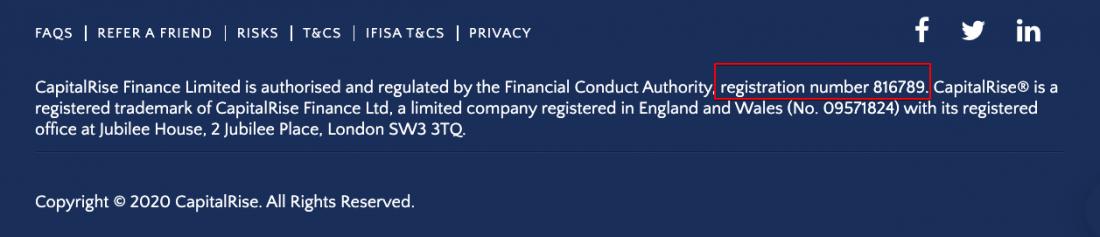CapitalRise registration number