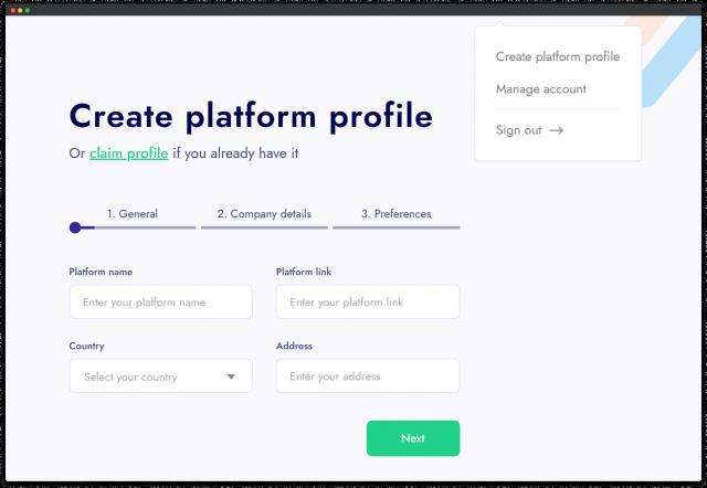 create platforms profile 1