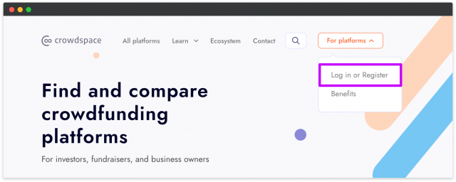 register at crowdspace